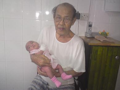 Meena with the Great Grandpa