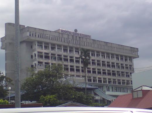 Hospital Queen Elizabeth where I was born. It's going down ndak lama lagi...