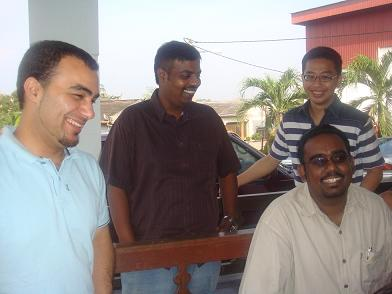 The boys - Shahid, Alfred, Joachim, YYY (and Kim Shen missing from the picture)