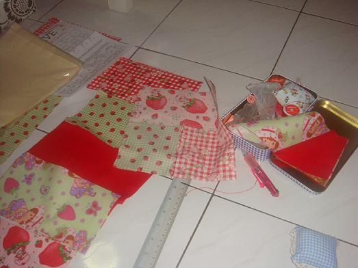 The top pieces I got from ebay. Siap potong and it comes with the instructions on how to assemble it.